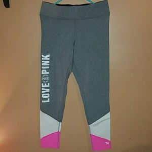 VS Pink Yoga Leggings - Size Lg